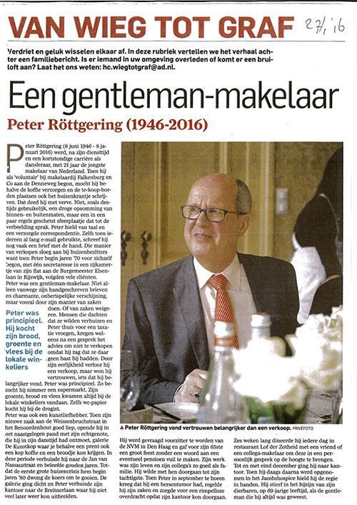 In Memoriam Peter Röttgering