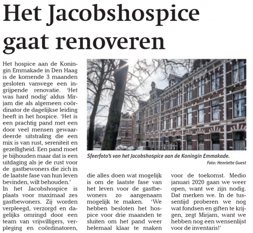 Renovatie Jacobshospice